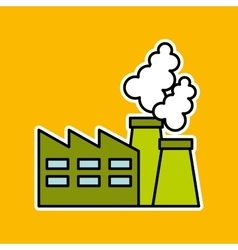 Factory ecology tree environment graphic vector