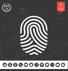 Fingerprint scanned finger icon vector
