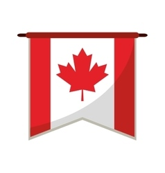 Flag pennant canadian red and white vector
