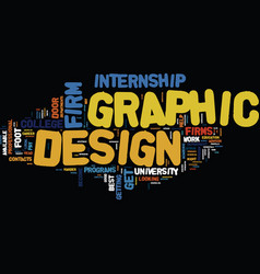 graphic design firm text background word cloud vector image vector image