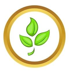 Green plant eco symbol icon vector image vector image