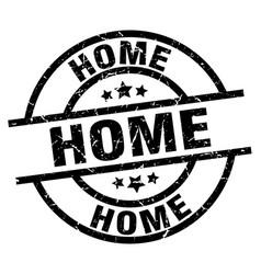 Home round grunge black stamp vector