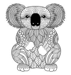Koala coloring book vector