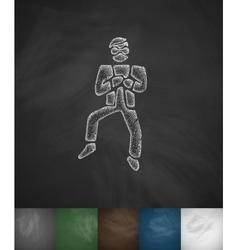 Korean dancing icon hand drawn vector
