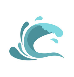 little wave icon cartoon style vector image vector image