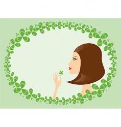 lucky girl vector image vector image