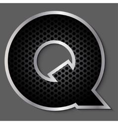 Metal grid font - letter q vector