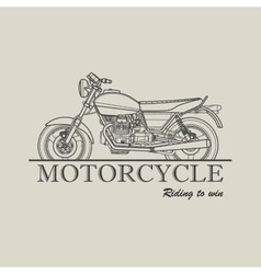 Motorcycle poster logo retro vector