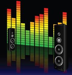 music volume with speaker vector image