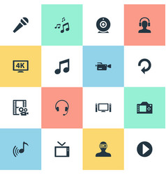 Set of simple multi icons vector