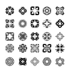 set of tribal black and white decorative patterns vector image vector image