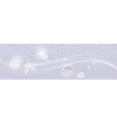 snowflakes on purple New Year background vector image