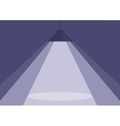 spotlight of purple hanging lamp vector image