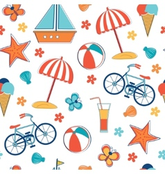 Summer vacation pattern vector