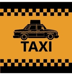 Taxi car side view banner design vector