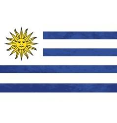 True proportions uruguay flag with texture vector