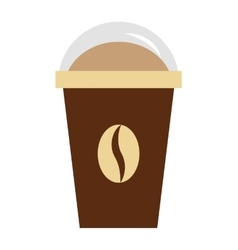 Coffee drink glass icon vector