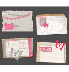 Set of vintage papers vector
