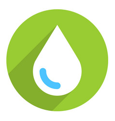 Ecology drop sign circle icon vector