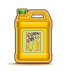 Big yellow plastic bottle with corn oil vector