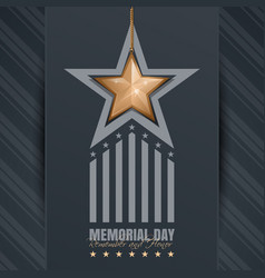 Poster for memorial day vector