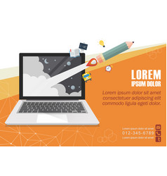 Education online concept poster vector