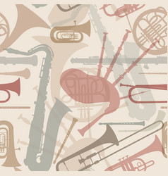 Music background seamless texture with musical vector