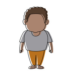 Standing man wearing casual clothes cartoon vector