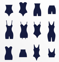 Different types of waist corrective underw vector