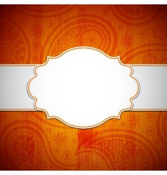 Frame in the indian style vector