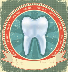 tooth label vector image