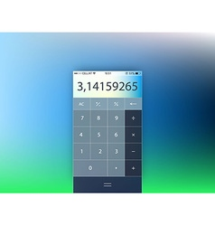 Template of mobile calculator interface form vector