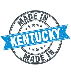 Made in kentucky blue round vintage stamp vector