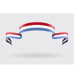 Luxembourg flag background vector