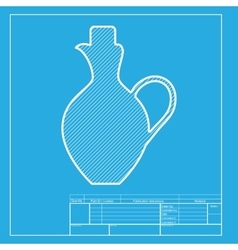 Amphora sign  white section of icon vector