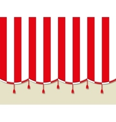 Red white theater circus curtain vector