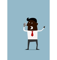 Angry frustrated afroamerican businessman vector image vector image