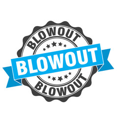Blowout stamp sign seal vector
