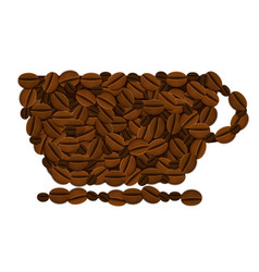 coffee background Eps10 vector image