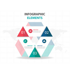 colorful triangle business infographics elements vector image