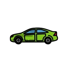 Electric car flat icon vector image vector image