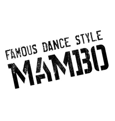 Famous dance style mambo stamp vector