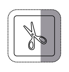 figure emblem scissors icon vector image