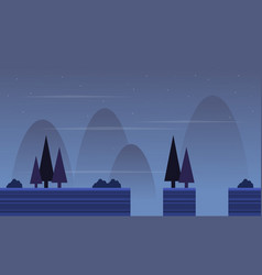 Flat scenery with spruce game background vector