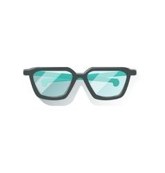 Glasses in black frame office worker desk element vector