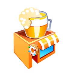 icon beer bar vector image