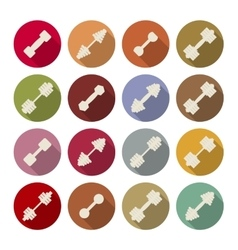 Icons dumbbells vector image