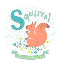 Letter S - Squirrel vector image vector image