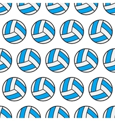 Seamless pattern of volleyball sports balls vector image vector image