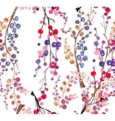 Seamless watercolor floral background vector image vector image